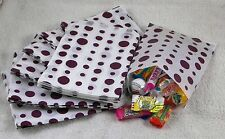 "100 Purple & White Spot Design Paper Sweet Party Bags Any Occasion 5"" by 7"""
