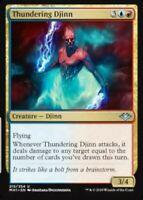 x4 Thundering Djinn Modern Horizons NM Playset Magic the Gathering