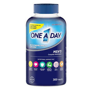 ONE A DAY MEN'S MULTIVITAMIN SUPPLEMENT 300 TABLETS EXP 04/23FREE SHIPPING