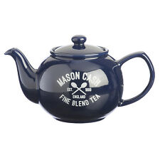 Mason Cash Varsity Traditional Fine Stoneware Blue 6 Cup Teapot