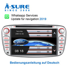 2020 IPS Autoradio GPS DVD Navi BT 16GB RDS für Ford Mondeo Focus C/S-Max DAB+