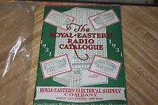 ROYAL-EASTERN ELECTRICAL SUPPLY RADIO TV CATALOG 1931 vintage radio house book