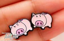 Disney toy story pig pigs couple metal earring ear stud earrings 2PCS anime Stud