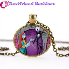 Nightmare Before Christmas jack&sally bronze necklace for women men gift#TKL2