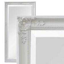 XXL Wandspiegel Spiegel weiß 200 x 100 cm Antik-Stil barock m. Facettenschliff