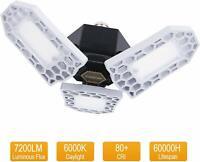 LED Garage Lights, 60W 7200LM Deformable LED Garage Lighting with 3 Adjustable P