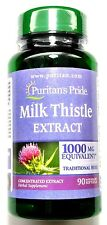 Milk Thistle 1000mg 4:1 Extract 90 Softgels 250mg Natural Gluten Free Capsule