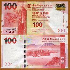 Hong Kong, $100, 2014, BOC, P-343-New, UNC