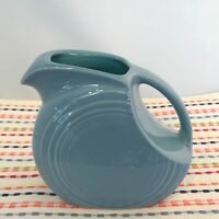 Fiestaware Periwinkle Turquoise 2 Tone Juice Pitcher Fiesta Retired Small Disc