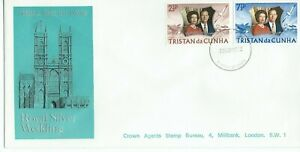 Tristan Da Cunha Royal Silver Wedding 1972 Illustrated First Day Cover