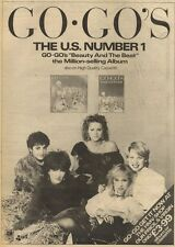 3/4/82Pgn09 Advert: U.s Number 1 The Go.gos beauty And The Beat 15x11