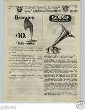 1924 PAPER AD Western Electric Radio Amplifier Receiver Brandes Moon Speakers