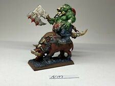 Warhammer Orcs and Goblins - Savage Orc Warboss on Boar