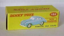 Repro box DINKY Nº 182 porsche 356 a coupé bleu et rouge