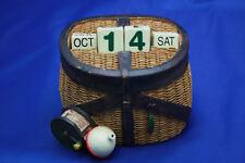 Sports Fishing Basket Calendar Perpetual  w/ Dice Desk Top By Russ Berrie