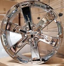 24 GMC Replica Wheels Chrome Rims Yukon Sierra Chevy Tahoe LTZ Silverado