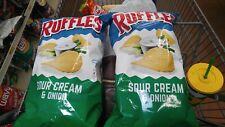 (2 Bags) RUFFLES SOUR CREAM & ONION FLAVORED POTATO CHIPS 8.5 OZ BAG