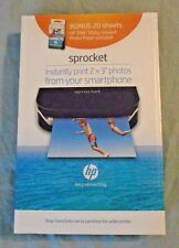 HP Sprocket Portable Photo Printer - Smartphone Printer ~ Black  ( New )
