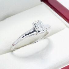 Beautiful Vintage Emerald Cut Diamond Engagement ring, G VS Diamond! inc wedding