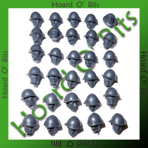 RUSSIAN RED ARMY SOVIET INFANTRY BITS - 30x HELMET HEADS - Wargames Factory