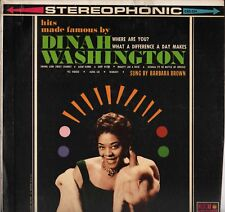 "BARBARA BROWN ""HITS MADE FAMOUS BY D. WASHINGTON"" SOUL VOCAL JAZZ LP CORONET 224"