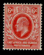 EAST AFRICA and UGANDA EDVII SG43, 6c red, M MINT. Cat £25.