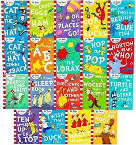 Dr Seuss Early Learning Library Cat in the Hat 19 Book Box Set Collection Gift