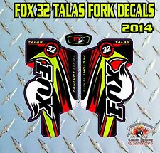 FOX 32 Talas FORK Adesivi Decalcomanie Grafiche mountain bike Down Hill MTB ROSSO VERDE
