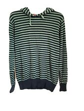 Jack & Jones Men's Hoodie sweater Green stripe size large