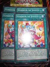 YU-GI-OH! COM VENDEUR DE JOUETS LOT DE 4 (PLAYSET) NECH-FR060 NEUF EDITION 1