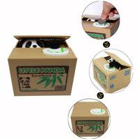 Cute Panda Automated Piggy Bank Money Box Stealing Coin Saving Money Box Gift US