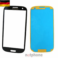 Samsung Galaxy S3 I9300 9305 Display Glas Touch Screen Front Glass BLAU ORIGINAL