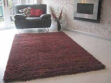 RUST MALMO SHAGGY RUG 8 x 5FT LUXURIOUS THICK CHUNKY PILE RUG HAND TUFTED OFFERS