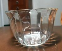 "Clear Glass Vintage Candy Dish Bowl Fluted 5.5"" X 3.75"" Textured Replacement"