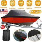 Waterproof Trailerable Boat Cover Heavy Duty Protector For 17-19FT Ski V-hull
