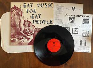 """RAT MUSIC FOR RAT PEOPLE VOL.2 1984 CD009 12"""" VINYL EX/EX US HARDCORE PUNK"""