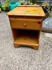 Ducal Solid Wood Bedside Cabinet Cupboard Table Pine On Castors