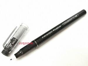 3 x Pilot SFFL-12F FriXion Erasable Fineliner Color Pen Drawing Pen, Black