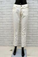 Jeans ROY ROGERS Donna Taglia 40 Pantalone Slim Cotone Woman Bianco Gamba Dritta