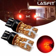 LASFIT 7443 7444 7440 7441 LED Bulbs Brake Stop Light Lamp Red Super Bright 2pcs