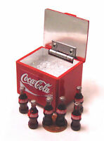 1:12 Scale Coca Cola Cooler Box + Lifting Lid Dolls House Miniature Coke Pub