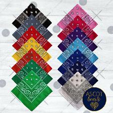 Bandana Scarf Face Mask Head Wrap Durag Kerchief Paisley Print 100% Cotton NEW