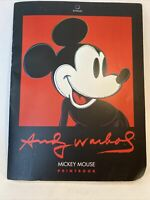 RARE Andy Warhol Mickey Mouse Printbook 3 Reproduction Prints 1995 *READ*
