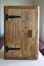 CORNER WOOD WALL CUPBOARD RUSTIC COTTAGE KITCHEN BATHROOM HANDMADE