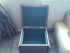 antique mahogany  side table , sowing box.  Vgc