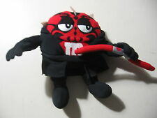"""6"""" plush M&M red doll dressed as Darth Maul from Star Wars, good condition RARE"""