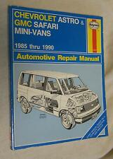 Haynes 1477 Automotive Repair Manual: Chevrolet Astro & GMC Safari Mini-Vans