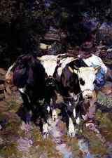 Zugel Heinrich Von Two Harnessed Calves A3 Box Canvas
