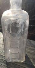 Antique Dr. Don Dodd Triple D Bottle Clear Embossed Old RARE