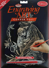 Royal & Langnickel Copper Engraving Art / Scraper Art Set - Monkey & Baby - BNIB